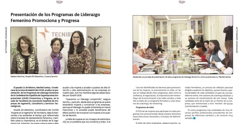 CITOP, programas desarrollo femenino